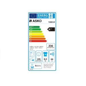 Energielabel ASKO Droger T208.HW